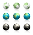 Globes set vector | Price: 1 Credit (USD $1)
