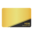 Golden Business Card with Modern Texture and Black vector image