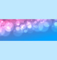 gradient vibrant banner with bokeh blurred light vector image vector image