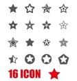grey stars icon set vector image vector image