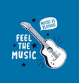 guitar and slogans vector image