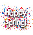 Happy spring paper background vector image
