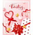 happy valentines day festive banner vector image vector image