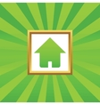 Home picture icon vector image