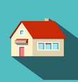 house flat design icon vector image vector image
