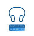 isolated headphone outline earmuff element vector image vector image