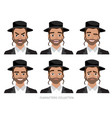 jew character isolated on white background vector image