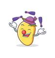 juggling mango character cartoon mascot vector image vector image