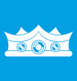 king crown icon white vector image vector image
