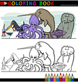 Marine and Sea Life Animals for Coloring vector image