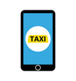 mobile app for booking taxi vector image