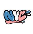 nyc graffiti vector image vector image