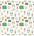 On vacation summer seamless pattern vector image