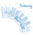 outline kaohsiung taiwan city skyline with blue vector image vector image
