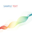overlaying colorful wavy lines forming vector image