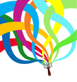 Paintbrush abstraction vector image vector image