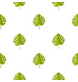 palm leaf pattern seamless vector image vector image