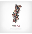 people map country Portugal vector image