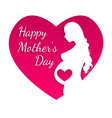 Pregnant Happy mothers day greeting card vector image
