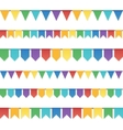 Rainbow colors flat style holiday flags garlands vector image