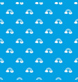 Rainbow lgbt pattern seamless blue vector image