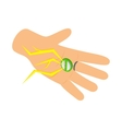 Ring with a lightning bolt icon vector image