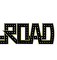 road highway stylized inscription isolated vector image vector image