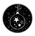 round festive composition cute christmas ball vector image