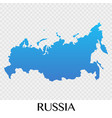 russia map in europe continent design vector image vector image