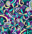 Seamless pattern background with abstract ornament vector image