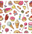seamless pattern of candies ice cream vector image vector image