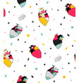 seamless pattern with human hearts pop vector image vector image