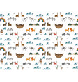 seamless pattern with noahs ark concept vector image vector image