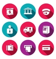 Set of Banking services Icons Money Bag vector image vector image