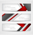 set of banners with lines paper business design vector image vector image