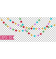set of multicolor lamps garlands festive vector image vector image