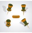 Set of pushpins vector image