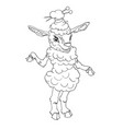 Sheep fermale hand drawn