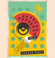 summer party retro poster design vector image vector image