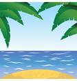 Summertime at the beach with palm vector image vector image