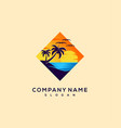 sunset logo design vector image vector image