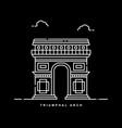 triumphal arch monument paris france history vector image vector image