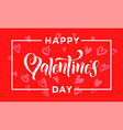 valentines day heart pattern greeting card vector image vector image