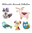watercolor cartoon collection vector image