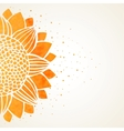 Watercolor sunflower vector image vector image