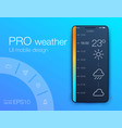 weather forecast app ux ui design stock vector image vector image