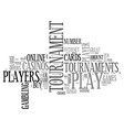 why players like tournament games text word cloud vector image vector image