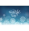 wonderful time hand lettering inscription on vector image vector image