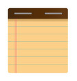 notepad flat icon vector image