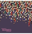 3d isometric of women business community a crowd vector image vector image